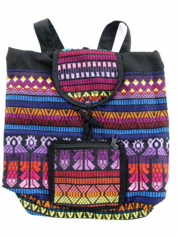 NEW Guatemalan Multicolor Backpack Adjustable Straps Bag #Unbranded #Backpack