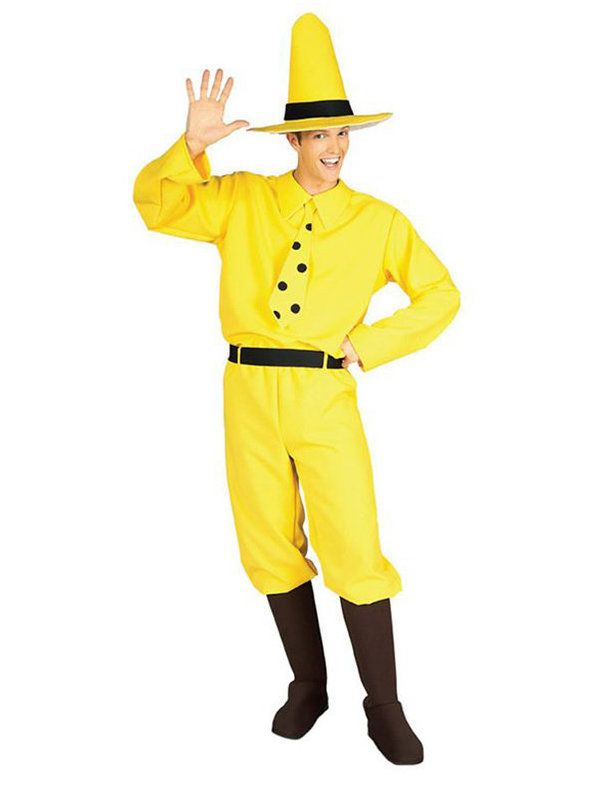 Halloween Man in the Yellow Hat - Adult Costume