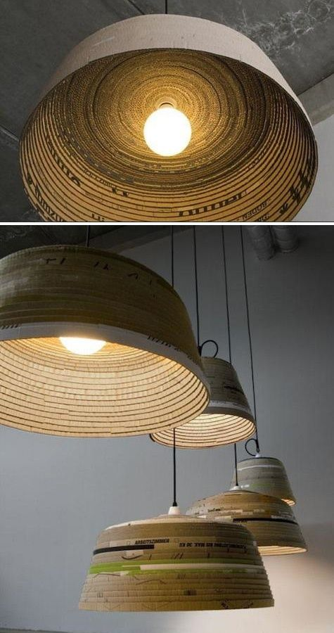 Michael Wolke: Cardboard Lamp German Designer Michael Wolke Creates This  Amazing Line Of Recycled Pendant Lighting. His Beute Lamp Is Hand Made From  ...