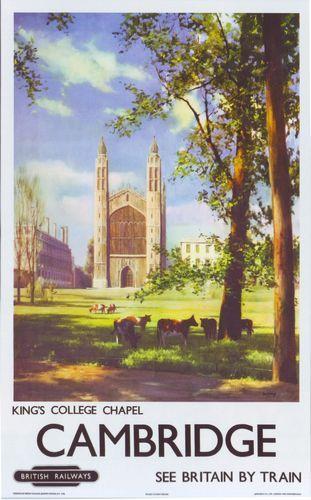 Vintage Cambridge tourism posters...  www.scudamores.com