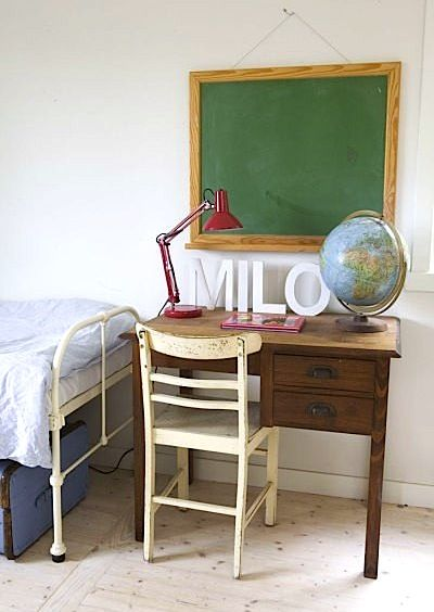 vintage teachers desk for teen study center . . . I would LOVE to find a desk like this for Madden in his room!