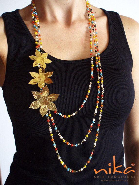 Mira este artículo en mi tienda de Etsy: https://www.etsy.com/listing/270622774/jewellerybeaded-necklace-bronze-necklace