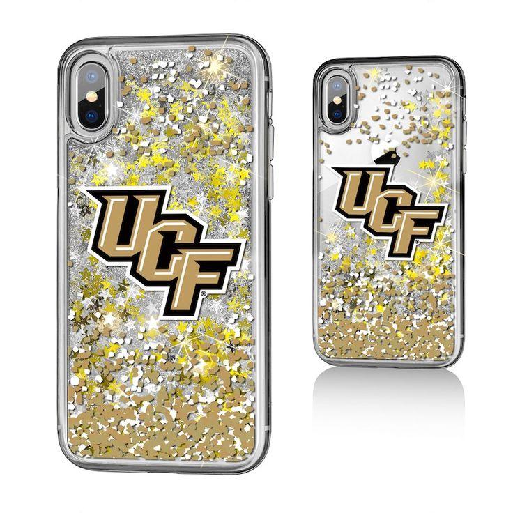 UCF Knights iPhone X/Xs Gold Glitter Confetti Case