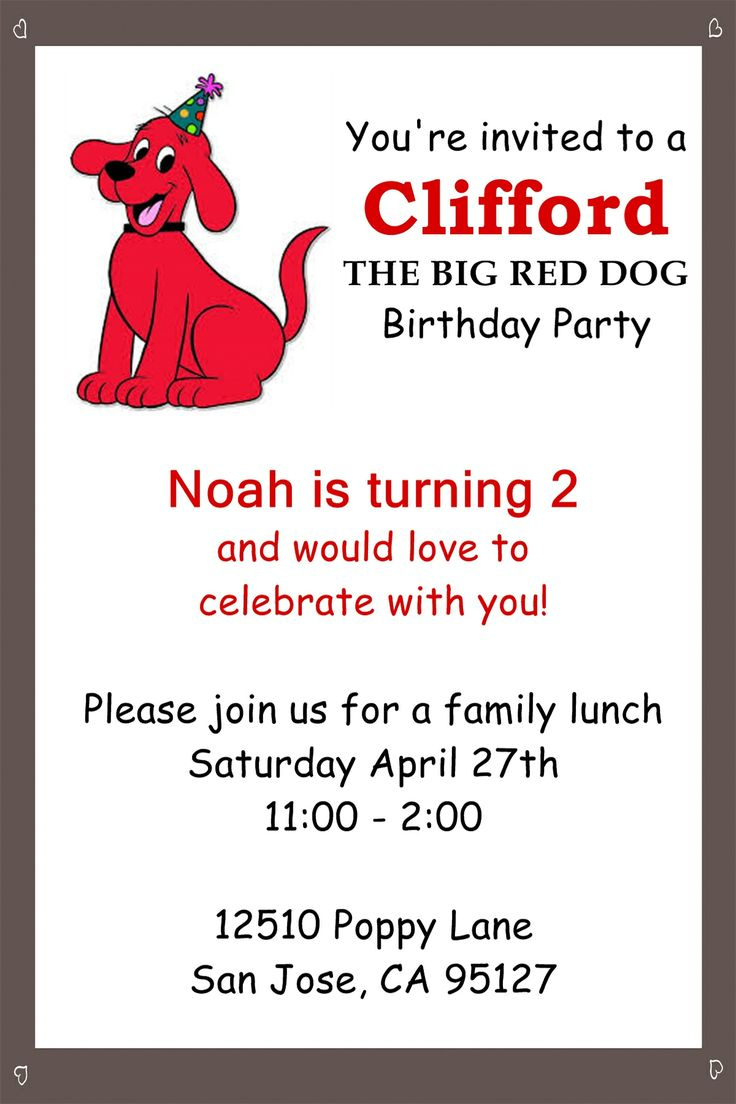 10 best clifford the big red dog party images on pinterest dog