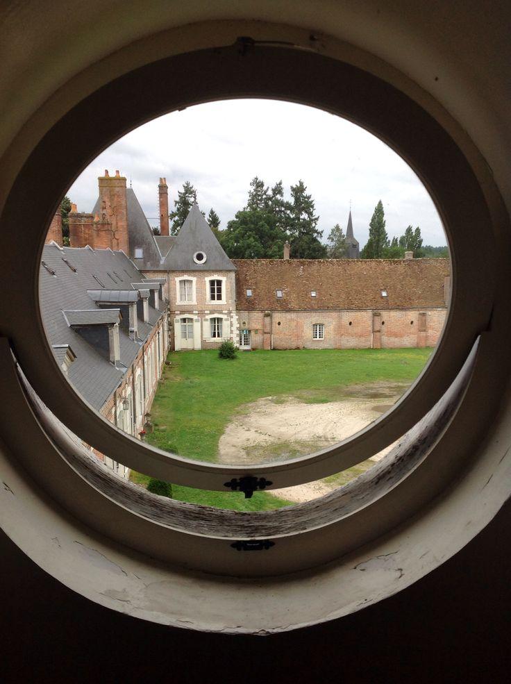 Window view of courtyard