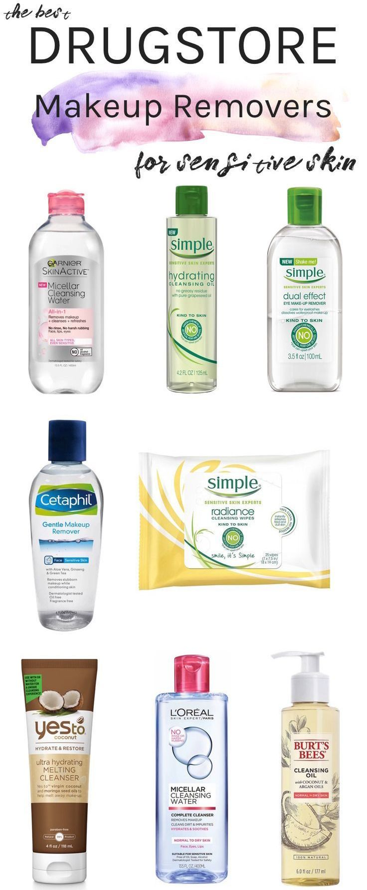 The Best Drugstore Makeup Removers For Sensitive Skin