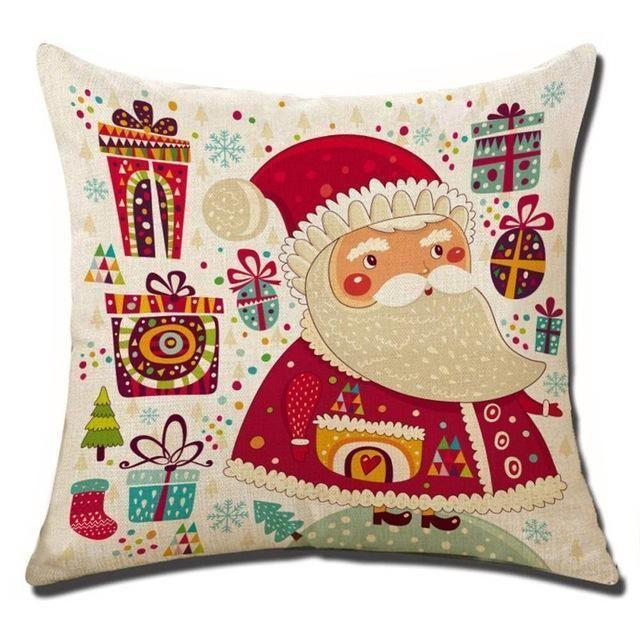 Merry Christmas Decorative Pillows Cover Top Quality Cartoon ...