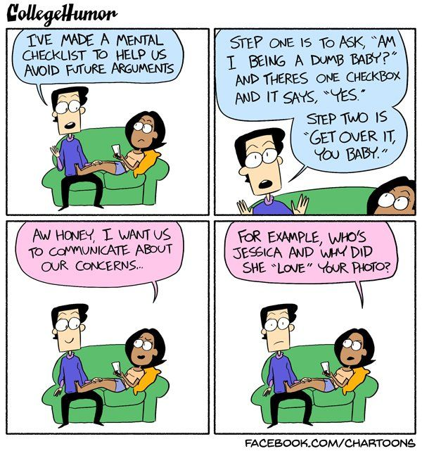 Fighting With Your Girlfriend Comic- CollegeHumor