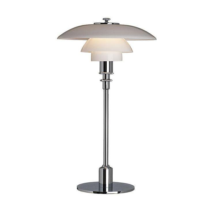 PH 2/1 Bordlampe, glas/højglansforkromet, Louis Poulsen