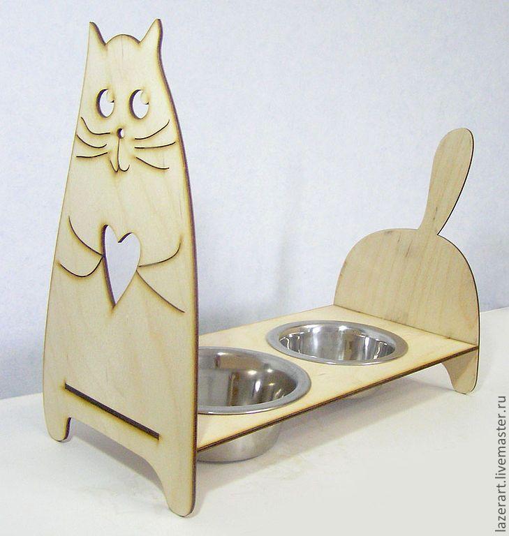 Купить Кормушка для кошки - для кошек, аксессуары для кошек, домик для кошки, кошка, предметы интерьера
