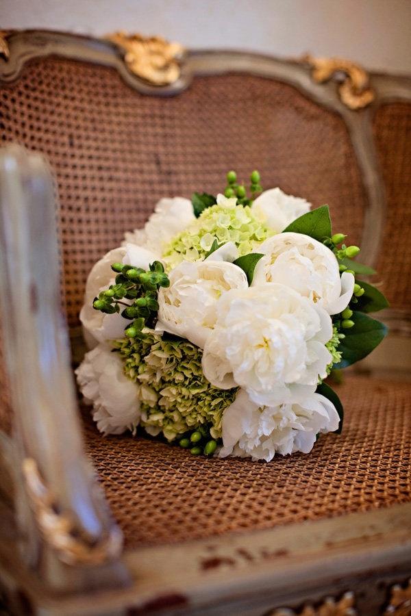 white / soft greens