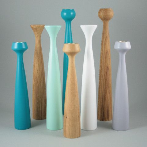 Danish Wooden Candlesticks Applicata - Available from @nookshop