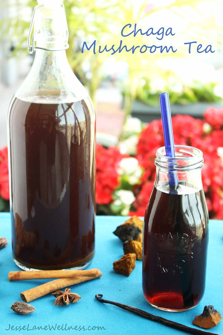 chaga mushroom tea recipes by @jesselwellness #chaga #recipe