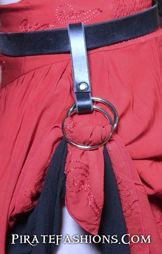 Here be the perfect accessory to hike up yar skirt- keep cool on hot days, n' show off yar sexy legs. Includes only one skirt hoop, but ye can order a set of two. • Made of 5 inch long heavy duty leat
