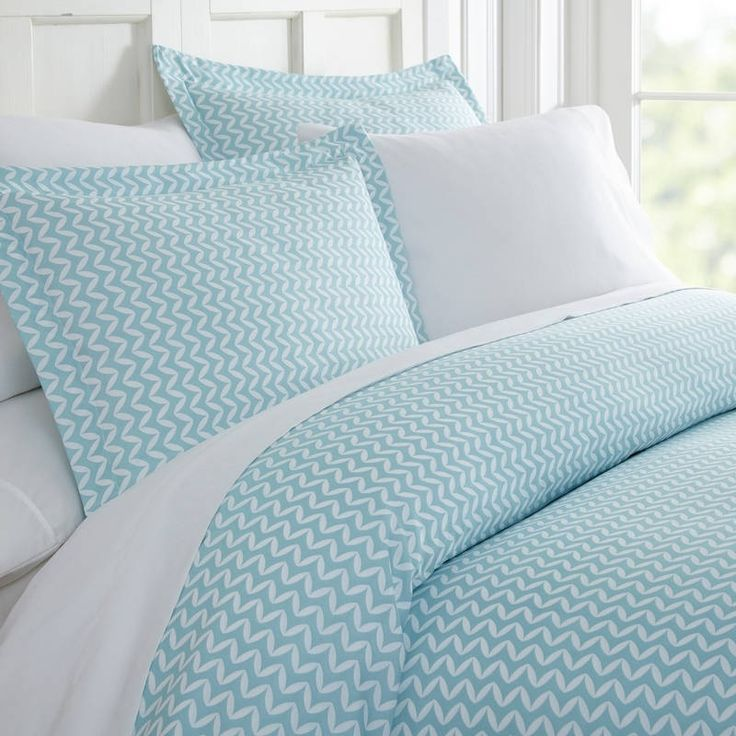 Merit Linens™ Premium Ultra Soft 3 Piece Puffed Print Duvet Cover Set