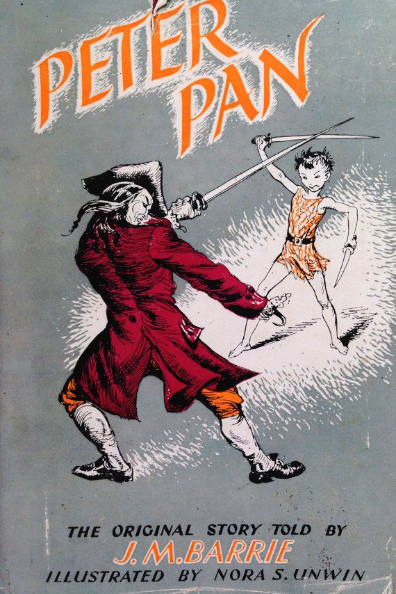 1951 PETER PAN By JM Barrie Illustrated by Nora by sandshoevintage