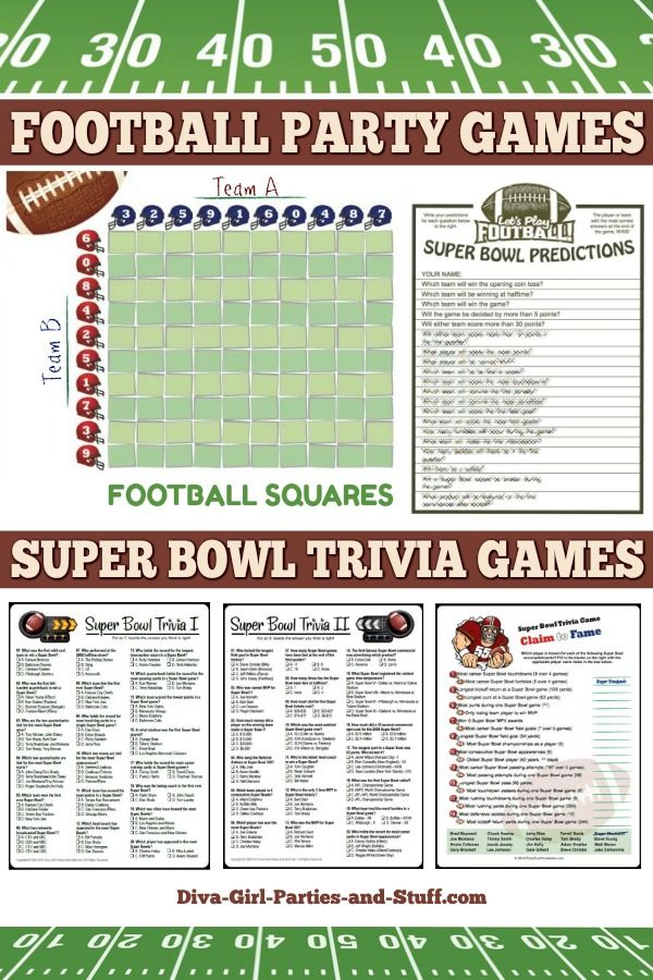 Super Bowl Party Ideas and Printables in 2020 Super bowl