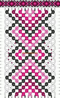 Normal Friendship Bracelet Pattern #11733 - BraceletBook.com