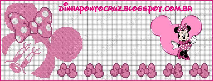 Bom sábado !!!  Pra fechar a semana, trouxe gráficos monocromáticos para quem como eu é apaixonada pelos ratinhos Disney