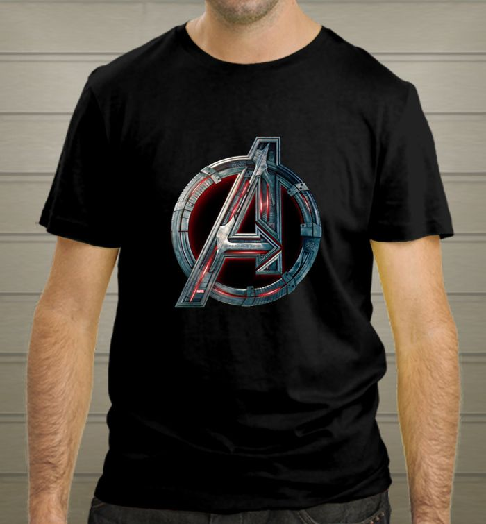 Avengers logo tee age of ultron comic tee Man Woman Black T-Shirt - T-Shirts, Tank Tops