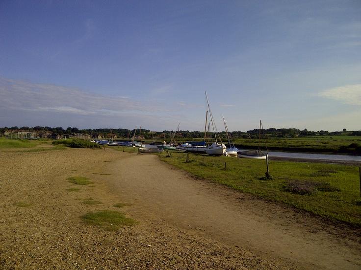 Nice view across the causeway at Blakeney Point, Norfolk.