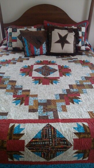 Queen Size Western Quilt Things I Love Pinterest Western Extraordinary Western Quilt Patterns