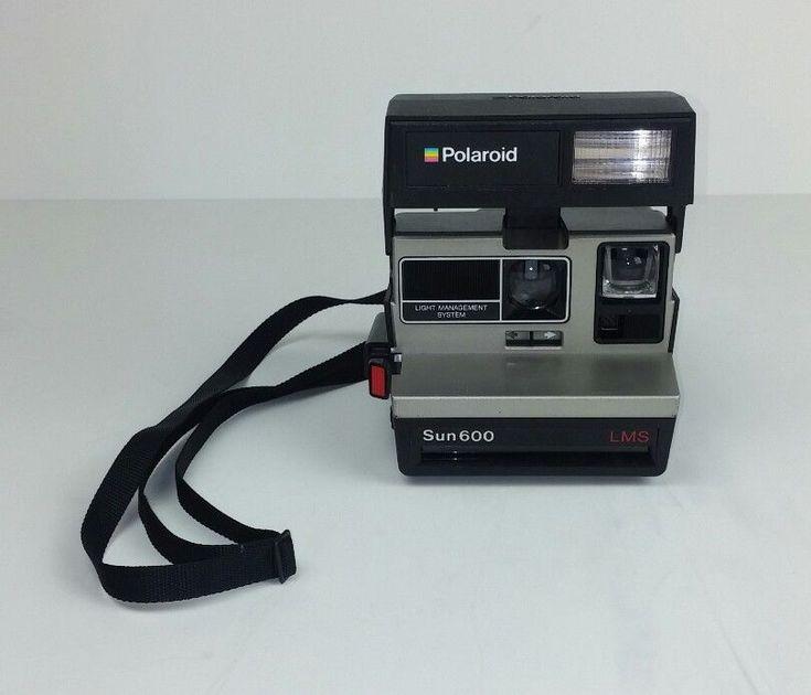 Polaroid Sun 600 Instant Camera LMS Film Untested Flash Vintage Photography  #Polaroid