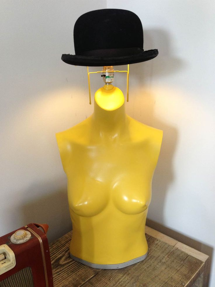 Mannequin lamp made by Charis Williams, AKA the Salvage sister, this mannequin bowler up cycle was made on C4's new prime time show 'Fill your House for Free'. Mannequin was found in a skip & the Vintage bowler that rests on top can be lifted off & worn :D