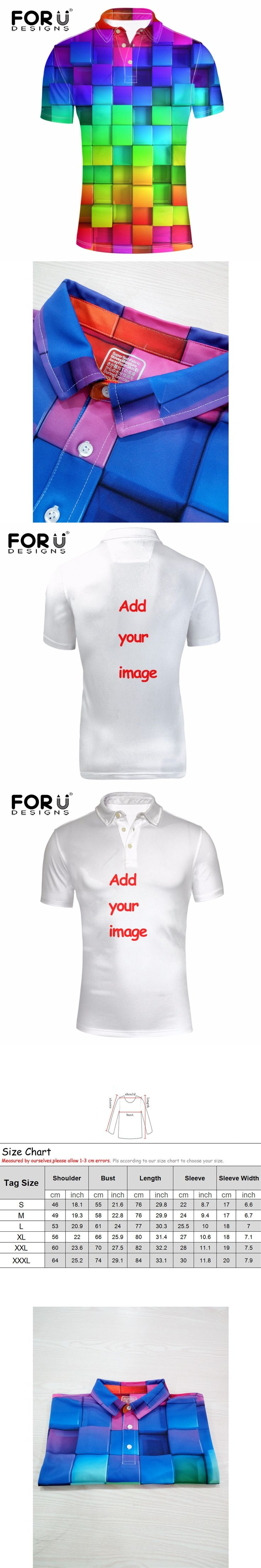 FORUDESIGNS 2017 New Arrival Polo Shirt Customize Man Polos Personalized Shirt Summer Short Sleeve 3D Printed Polo Shirt XS-XXXL
