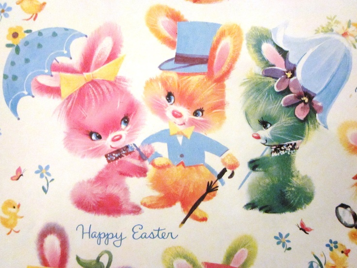 84 best wrapping paper easter joy images on pinterest wrapping honey bunnywow so cute vintage wrapping paperwrapping papersgift wrappingvintage giftsvintage holidayvintage eastereaster negle