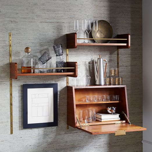 top 25 best wall mounted kitchen shelves ideas on. Black Bedroom Furniture Sets. Home Design Ideas