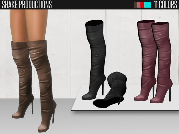 the knee boots 48 by shake productions at tsr sims
