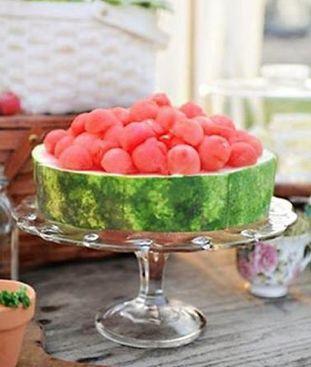 Watermelon presentation.