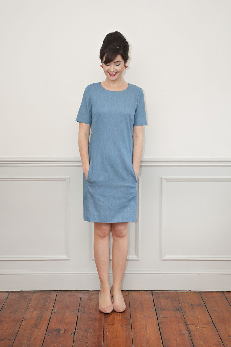 Sew Over It | Intro to Dressmaking - Zoe Dress | part of our beginner dressmaking series, learn to make a fitted shift dress. In this class we will guide you through sewing french darts, princess seams, invisible zips, sleeves and lots more. We'll also help you get a wonderful fit, and you'll leave with a specially altered pattern for your body