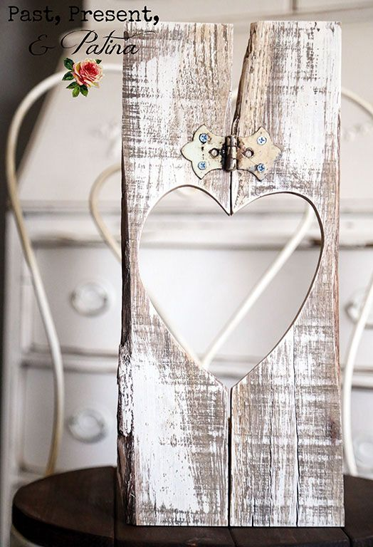 Rustic Pallet Heart with an Antique Hinge — by kathi arbiso