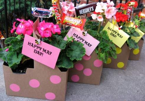 May Baskets Made from Drink Holders