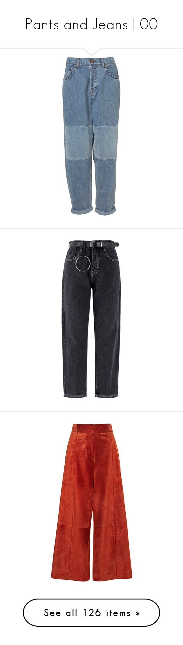 """""""Pants and Jeans   00"""" by taehxbinn ❤ liked on Polyvore featuring jeans, pants, bottoms, denim, velvet jeans, saggy jeans, slouchy jeans, oversized jeans, slouch jeans and trousers"""
