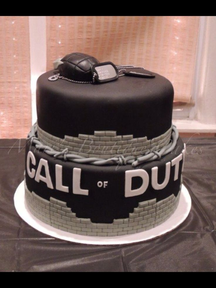 Call of Duty Cake - by Mari's Boutique Cakes