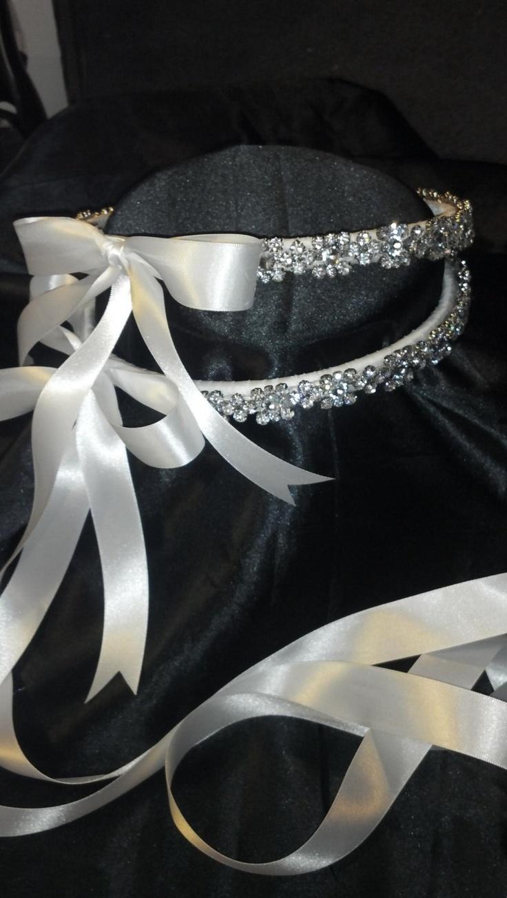 Stefana Greek Orthodox Wedding Crown CUSTOM Made with Genuine Swarovski Crystal Flowers Now ON SALE. $165.99, via Etsy.