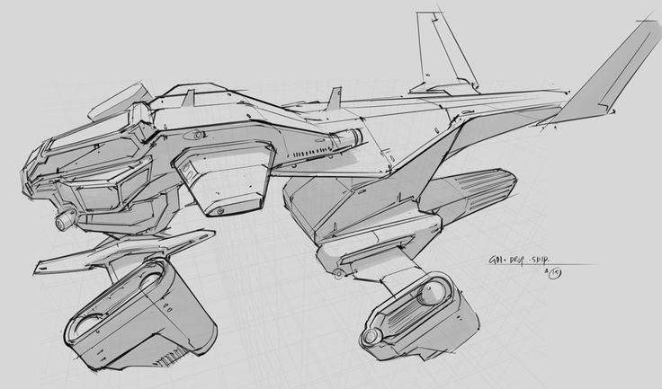how to draw anime spaceships