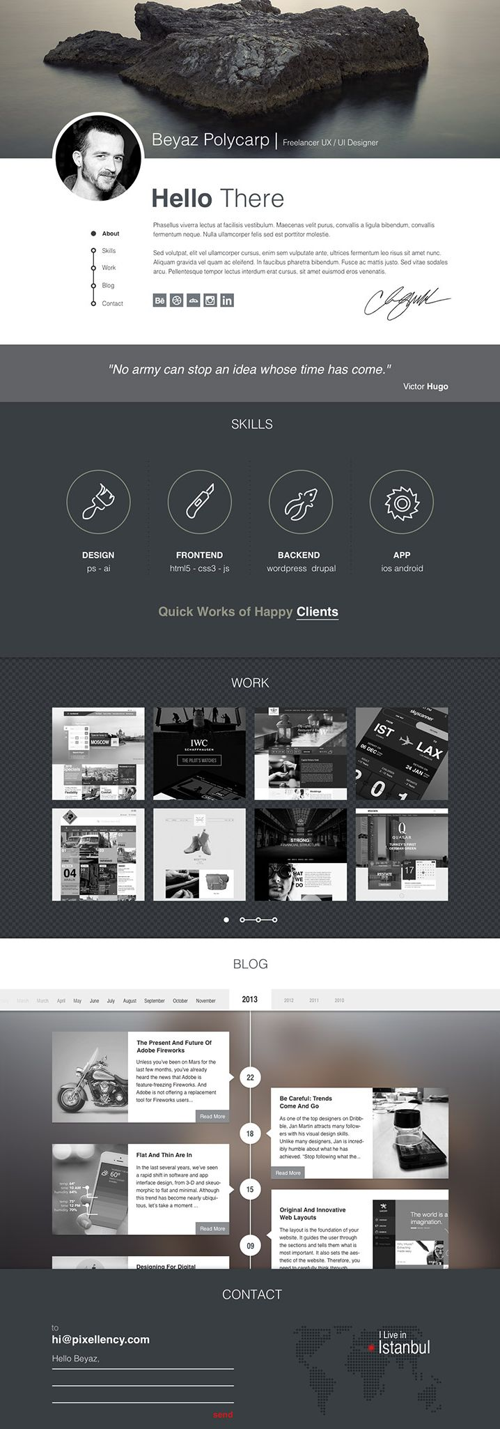 Polifoli - Free Portfolio Website Template