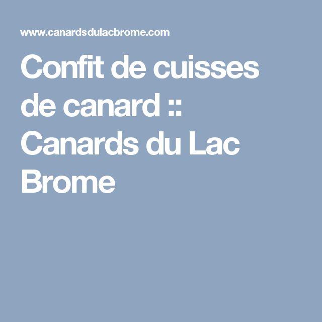 Confit de cuisses de canard :: Canards du Lac Brome