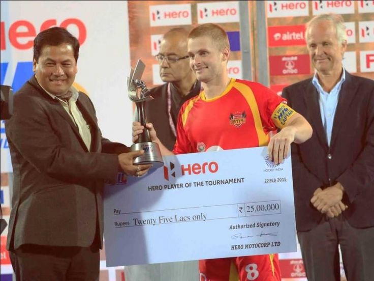 Ranchi Rays Skipper Ashley Jackson Named Best Player of Hockey India League 2015