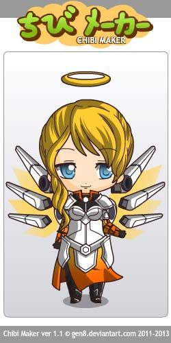 Mercy (Overwatch) Chibi Maker #chibimaker #overwatch