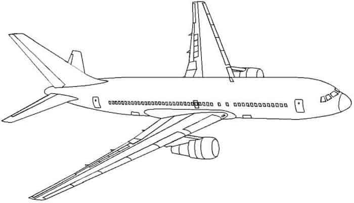 Comercial Airplane Coloring Pages Aviones