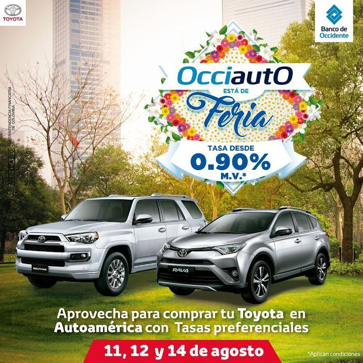 Aprovecha las tasas especiales del Banco de Occidente para este fin de semana: https://autoamerica.com.co/banco-de-occidente/