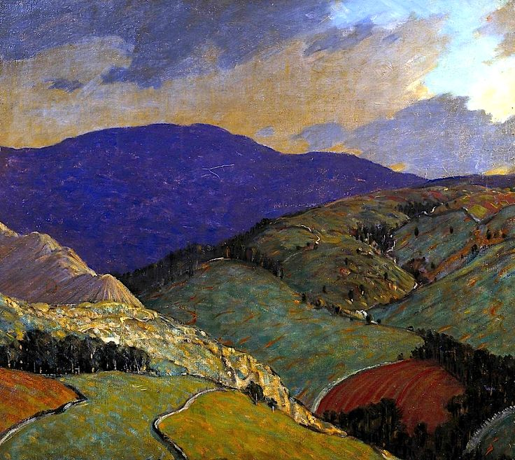 Whernside, 1917 Sir Charles John Holmes  (1868–1936) was an art historian, landscape painter and etcher. He painted mainly the bleak mountains and industrial scenes of the north of England