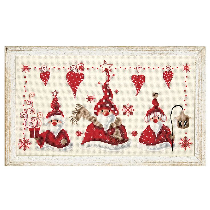 Christmas Gnomes Counted Cross Stitch Kit - Cross Stitch, Needlepoint, Embroidery Kits – Tools and Supplies