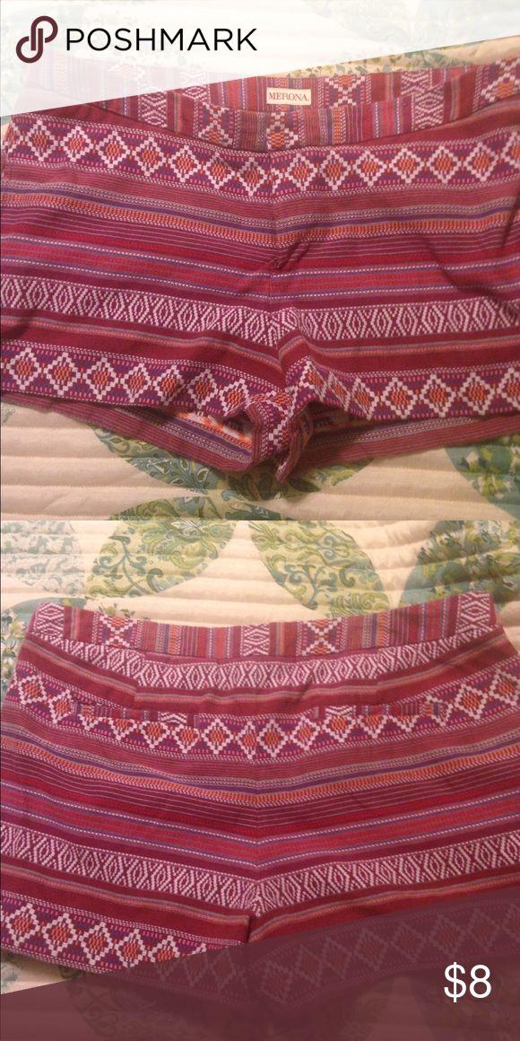 Merona Aztec print shorts size 16 Aztec print would also prob fit a size 14 Merona Shorts