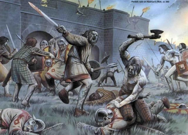 The Picts or more specifically the Caledonian tribe. A group of people the Romans could not get a handle on. I consider that to be a pivotal point in Roman history. Instead of conquering them, the Romans had to build two walls; the Hadrian Wall & the Antonine Wall. Just to keep them out.